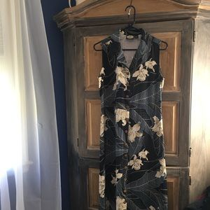 Tommy Bahama Dresses - Tommy Bahama Floral Long Silk Dress Size Small
